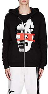 Givenchy Men's Face-Graphic Cotton French Terry Hoodie-Black