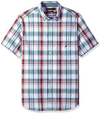 Nautica Men's Short Sleeve Plaid Button Down Shirt