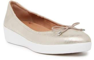 FitFlop Superbendy Metallic Leather Ballerina Slip-On Shoe