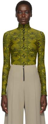 Kwaidan Editions Yellow Vertigo Zipper Turtleneck