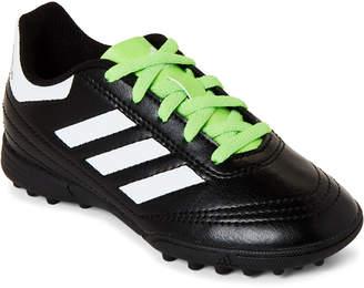 adidas Kids Boys) Black & Green Goletto VI FG Soccer Cleats