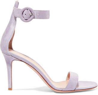 Gianvito Rossi Portofino 85 Suede Sandals - Lilac