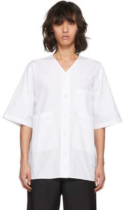3.1 Phillip Lim White Overlap Pocket Shirt