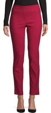 Isaac Mizrahi IMNYC Slim Straight Full Length Pull-On Pants