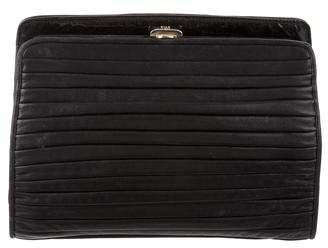Fendi Vintage Quilted Leather Clutch