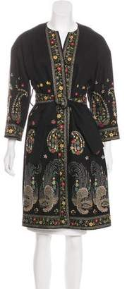 Christian Lacroix Embellished Knee-Length Coat