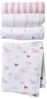 Aden Anais aden + anais Heart Breaker Swaddles - Pack of 4
