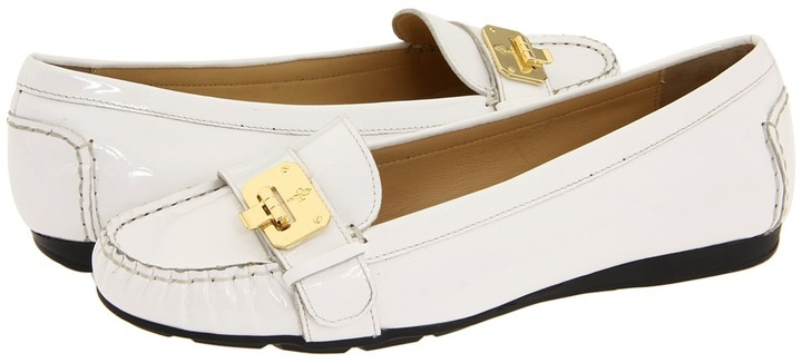 Cole Haan Air Tali Lock Moc (White Patent) - Footwear