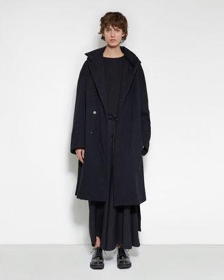 Yohji Yamamoto Belted Hooded Coat $2,460 thestylecure.com