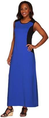 Denim & Co. Color-Block Sleeveless Scoop Neck Maxi Dress