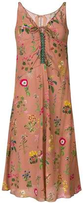 No.21 floral embroidered midi dress