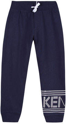 Kenzo Fleece Logo Jogger Pants, Size 8-12