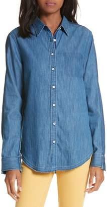 Rag & Bone Destroyed Classic Denim Shirt