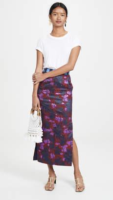 Stella Jean Palm Tree Midi Skirt