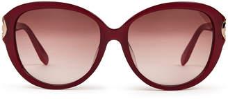 Salvatore Ferragamo SF802SA Bordeaux Round Sunglasses