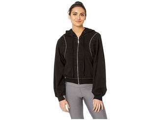 Hard Tail Reverse Angle Stripe Puff Sleeve Jacket