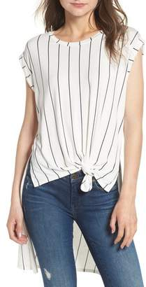 Love, Fire High/Low Knot Front Top