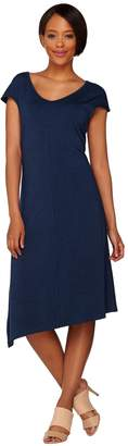 Halston H By H by Knit Midi Dress with Asymmetric Hem