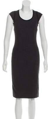 Dolce & Gabbana Virgin Wool Cap Sleeve Dress
