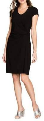 Nic+Zoe Short-Sleeve Twist Sheath Dress