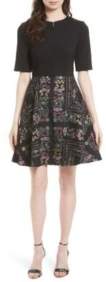 Women's Ted Baker London Mooris Unity Floral Jacquard Dress $335 thestylecure.com