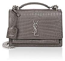 Saint Laurent Women's Monogram Sunset Medium Leather Satchel - Light Gray