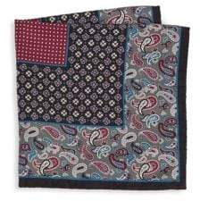 Saks Fifth Avenue COLLECTION Paisley& Floral Boxed Silk Pocket Square