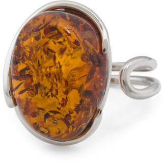 Made In Poland Baltic Cognac Amber Ring