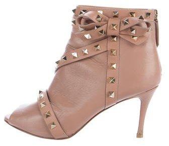 ValentinoValentino Rockstud Peep-Toe Boots