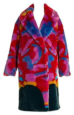 Stella McCartney Women's All Together Now Yellow Submarine Faux Fur Coat