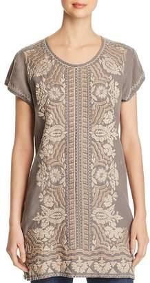 Johnny Was Rita Embroidered Linen Tunic