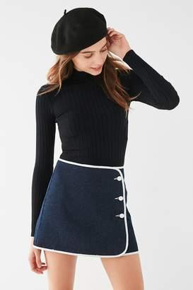 BDG Denim Piping Mini Skirt