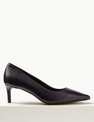 Marks and Spencer Leather Kitten Heel Court Shoes