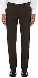 Pt01 Men's Stretch-Cotton Slim Trousers-Brown Size 40