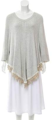 Sacai Draped Fringed Sweater