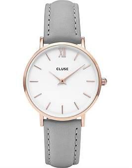 Cluse Minuit Rose Gold White-Grey