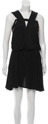 Lanvin Pleated Sleeveless Dress Black Pleated Sleeveless Dress