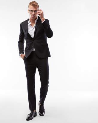Express Extra Slim Charcoal Stripe Wool Blend Suit Jacket