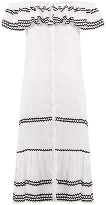 Lisa Marie Fernandez Mira ruffle-trimmed button-through linen dress