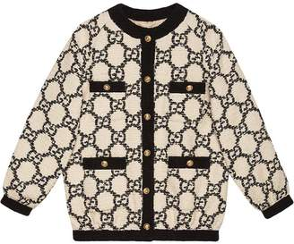 Gucci bomber in oversize tweed GG