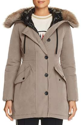 Moncler Monticole Fur Trim Down Coat