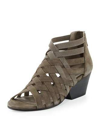 Eileen Fisher Oodle Caged Leather Sandal, Graphite $225 thestylecure.com