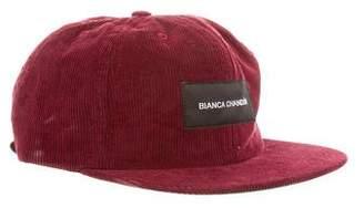 Bianca Chandon Corduroy Logo Cap