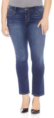 SLINK Jeans Plus Straight-Leg Jeans in Amber