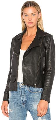Muubaa Moto Jacket in Gray $534 thestylecure.com