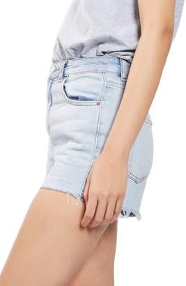 Topshop Women's Longline Denim Mom Shorts