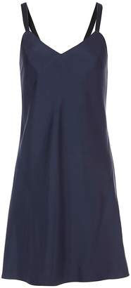 Tibi Mendini Twill Strappy Short Dress in Navy