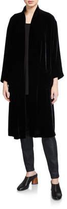 Eileen Fisher Velvet Kimono Long Jacket