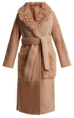 Yves Salomon Reversible Shearling Coat - Womens - Nude