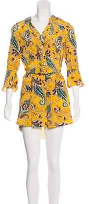 Tibi Paisley Silk Dress